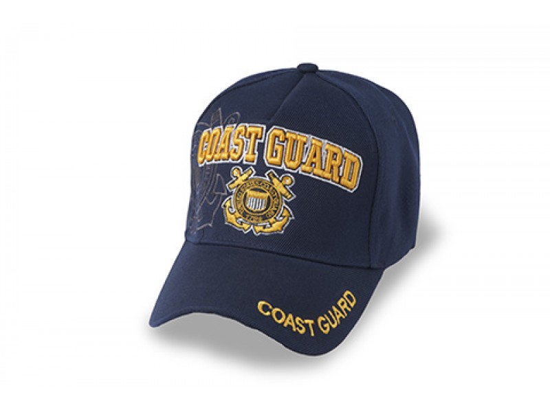 US COAST GUARD INSIGNIA COTTEN CAP GOLD LETTERS
