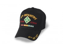 4TH INFANTRY DIVISION VIETNAM CAP WITH RIBBONS