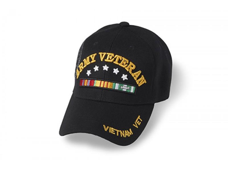ARMY  VIETNAM VETERAN WITH STARS ABOVE RIBBON VETERAN CAP