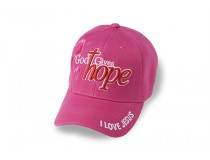 PINK  GOD GIVES HOPE  I LOVE JESUS CAP