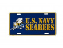 US NAVY SEEBEES LICENSE PLATE