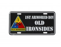 1ST ARMORED DIVISION CAR TAG