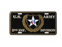2ND INFANTRY DIVISION CAR TAG