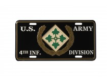 4TH INFANTRY DIVISION CAR TAG
