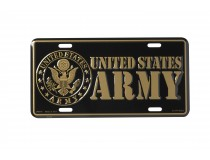 UNITED STATES ARMY GOLD LETTERING CAR TAG