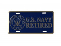 US NAVY RETIRED LICENSE PLATE