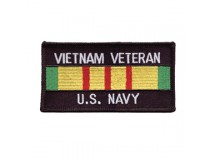 US NAVY VIETNAM SERVICE RIBBON WHITE TEXT PATCH
