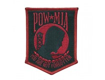 POW 3X4 BLACK RED PATCH