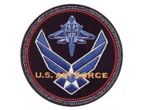 US  AIRFORCE WINGS JET PATCH