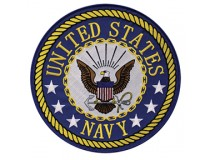"3"" US NAVY PATCH BLUE TRIM PATCH"