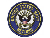 "US NAVY RETIRED 3"" PATCH"