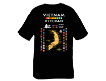 Vietnam Map With Cities, Tee Custom Design by Shadow Box Gear