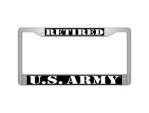 RETIRED ARMY LICENSE FRAME
