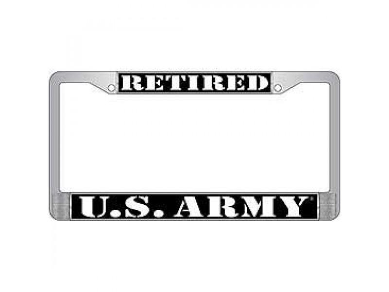 RETIRED ARMY LICENSE FRAME