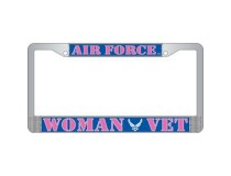 US AIRFORCE WOMAN VET LISCENCE PLATE FRAME
