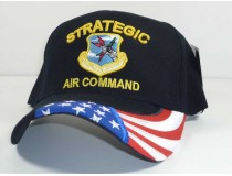 Strategic Air Command Military Cap Flag on Bill