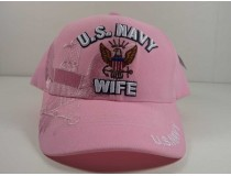 U.S. Navy Wife Pink Cap