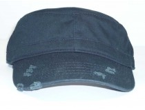 Black Field Cap Distressed look