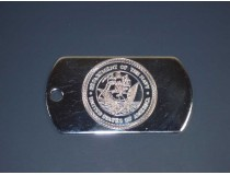 Navy Custom Dog Tag With Chain