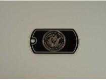 Navy Custom Dog Tag with chain