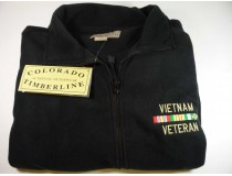 Vietnam Veteran Custom Embroidered Fleece Jacket