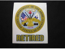 ARMY RETIRED Decal