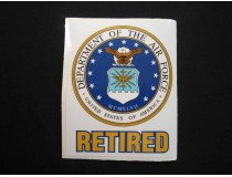 AIR FORCE DECAL RETIRED