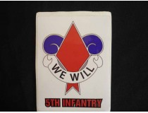 5th Infantry Division Decal