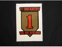Big Red OnE Division Decal