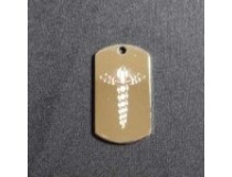 Caduceus Custom Dog Tag with chain